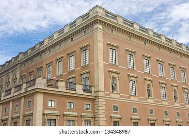 Stockholm, Sweden. Famous Swedish Royal Palace (Stockholms slott) at Gamla Stan