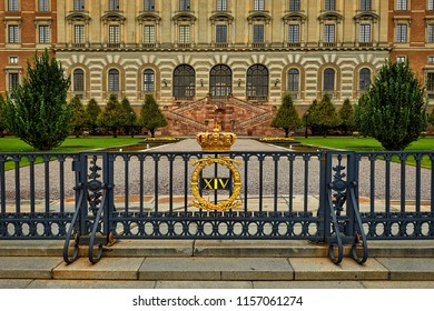 Stockholm, Sweden, fragment of the royal palace, royal residence in Stockholm, on the island of Stadsholmen, in the Gamla stan