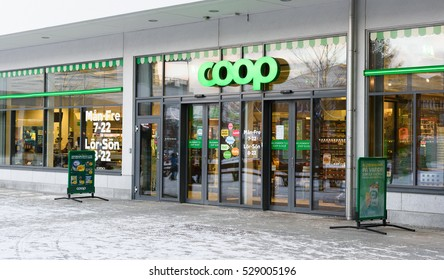 Stockholm, Sweden - January 2, 2016: COOP Store in Alvsjo