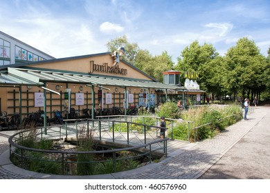 Stockholm, Sweden - Jul 27, 2016 : View of Junibacken, children museum, Stockholm. The museum is devoted to Swedish children's literature, especially Astrid Lindgren.