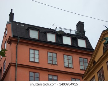 stockholm, Sweden - July, 2007: Photo of The house on the roof of which lives Carlson.