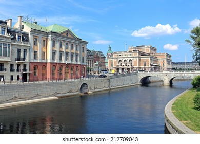 STOCKHOLM, SWEDEN - JULY 30, 2014: View of the opera in Stockholm