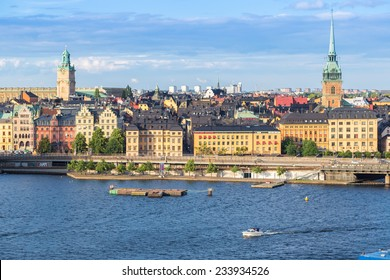 STOCKHOLM, SWEDEN - JULY 31: Gamla Stan, the old part of Stockholm, Sweden on July 31, 2014