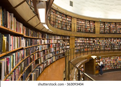 Stockholm, Sweden - Jun 2, 2015 : The inner view of Stockholm Public Library.