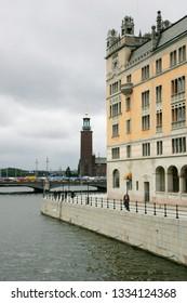 STOCKHOLM, SWEDEN - JUNE 15, 2009: View of Stadshuset (City Hall) building