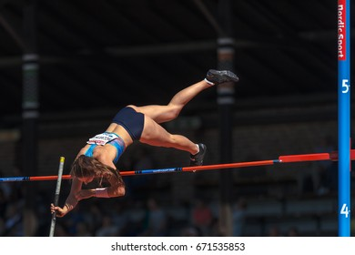 STOCKHOLM, SWEDEN - JUNE 18, 2017:  Track and field atletics in IAAF Diamond leauge Bauhaus Galan at Stockholm stadion.