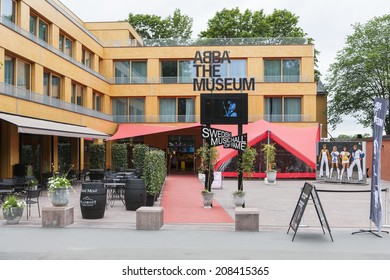 STOCKHOLM, SWEDEN - JUNE 30, 2014: ABBA the Museum is a tourist attraction in Djurgarden, Stockholm.