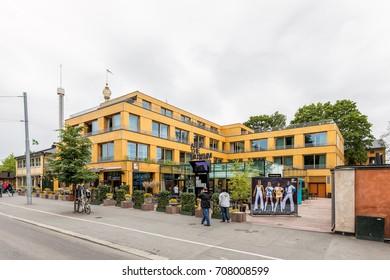 Stockholm, Sweden - June 30, 2017: ABBA museum at Djurgården, Stockholm.