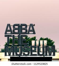 Stockholm, Sweden - Juy 02, 2018: ABBA Museum in Djurgården, Stockholm.