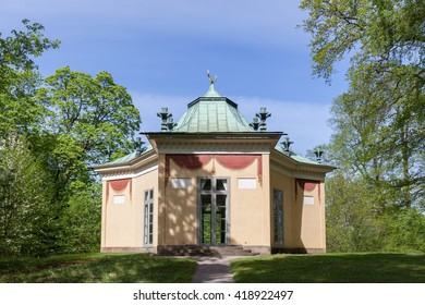 Stockholm, Sweden - May 11, 2016 : Buildings of Haga Park. Haga park is situated in Stockholm City and part of the Royal National City Park, Haga Park is one of Sweden's most-visited recreation area.