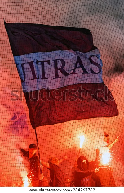 Stockholm Sweden May 25 Ultras Flag Stock Photo Edit Now 284267762