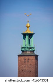 STOCKHOLM SWEDEN May 4, 2016, the City Hall tower.