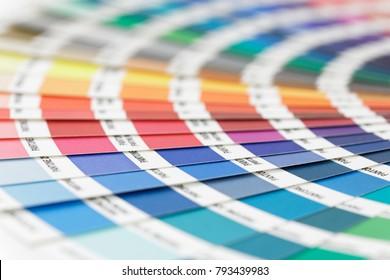 STOCKHOLM - SWEDEN, NOV 08, 2017: Colorful color palette used to select the correct shade in Stockholm, Sweden, November 08, 2017