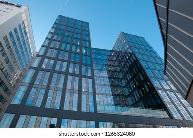 Stockholm, Sweden - November 16, 2018: The Waterfront Building is not just Stockholm's most central business address, it is also one of the capital's most climate-smart offices.
