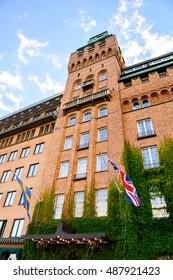 STOCKHOLM, SWEDEN - SEP 13, 2016: Radisson Blu hotel in the centre of Stockholm, Sweden. Stockholm is the most populous city in Scandinavia
