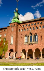 STOCKHOLM, SWEDEN - SEP 17, 2016: Stockholm City Hall, Sweden. It is the venue of the Nobel Prize banquet