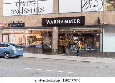 Stockholm, Sweden - September 24, 2019: Warhammer store in Stockholm.