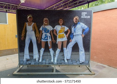 STOCKHOLM, SWEDEN - SEPTEMBER 25, 2016 - Picture of famous Swedish ABBA band at ABBA The Museum in Stockholm Sweden