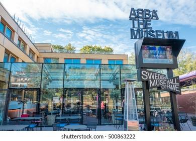 STOCKHOLM, SWEDEN - SEPTEMBER 27: Exterior of ABBATheMuseum on September 27, 2016 in Stockholm. The ABBA museum has become of Stockholms major tourist attractions.