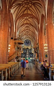 STOCKHOLM, SWEDEN- September 7, 2016. Inside the Cathedral of Stockholm (Storkyrkan) in Gamla Stan, the old part of the Swedish capital.