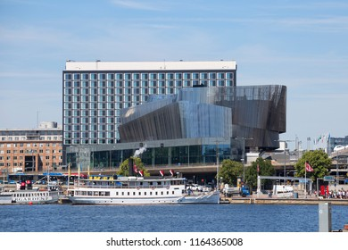 Stockholm Waterfront Conference Centre, Stockholm, Sweden - 27 Jun 2018: It is a building for offices, conferences and hotels. Architect is the White arkitekter firm.