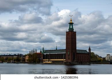Stockholms stadshus Sweden near water surface