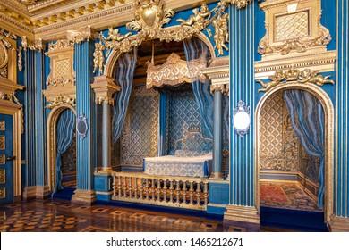 STOCKHOLM,SWEDEN-JULY14,2019: Interior view of Drottningholm palace at Stockholm, Sweden, it is one of Sweden's Royal Palaces