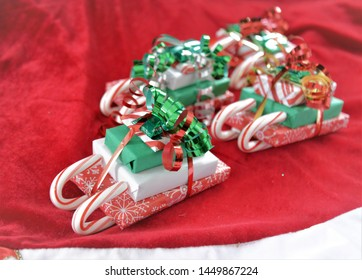 Stocking Stuffer Candy Sleigh Under the Tree