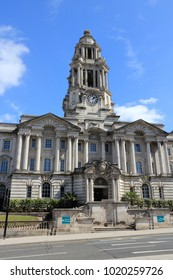 Stockport in North West England (UK). Part of Greater Manchester. Town Hall.