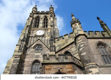 Stockport in North West England (UK). Part of Greater Manchester. Parish church - St. Mary's in the Market Place.