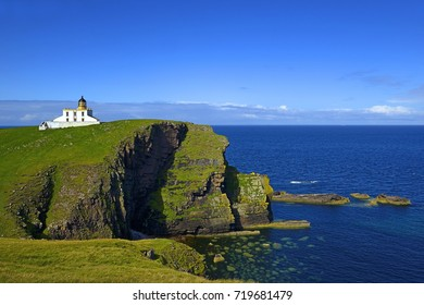 Stoer Head (Rubha Stoer in Scots Gaelic) is a point of land north of Lochinver in Sutherland, NW Scotland. A lighthouse on the point marks the northern entrance to The Minch