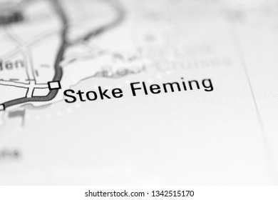 Stoke Fleming. United Kingdom on a geography map