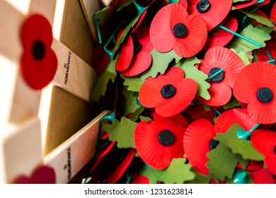 Stoke on Trent, Staffordshire - 16th November 2018 - Donations for the Royal British Legion Poppy Appeal are collected at a secret location and counted by volunteers,