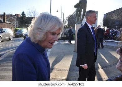 stoke-on Trent, Staffordshire, England, November, 28th, 2017. HRH Prince Charles and Camilla Parker Bowles visit to Stoke-on-Trent on Tuesday 28th November 2017