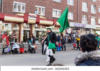 STOLBERG, GERMANY, FEBRUARY 28, 2017 - People at the Rose Monday Parade.