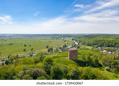 Stolpe Castle is the ruin of a hilltop castle on a hill above Stolpe