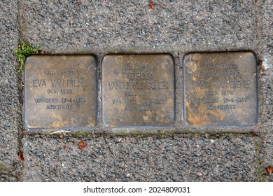 Stolperstein Memorial Stone From Family Biene At The Netherlands 13-8-2021