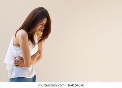 stomach ache, mild pain