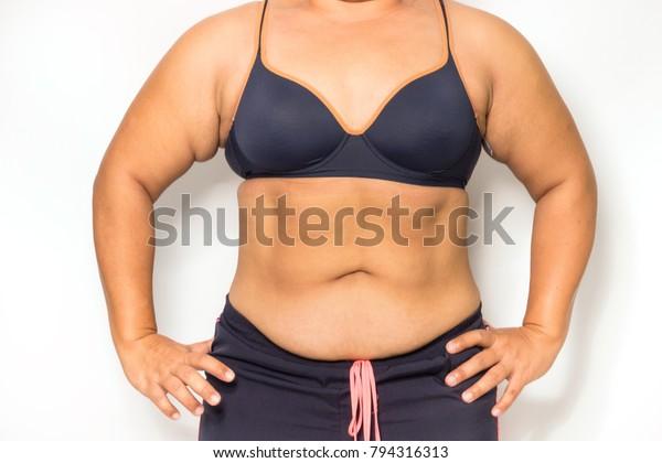 Stomach Vacuum Woman Making Yoga Breathing Stock Photo (Edit