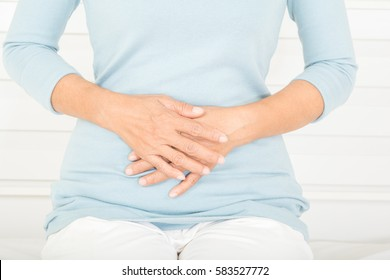 stomachache in old women