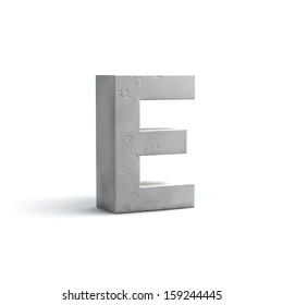 Stone Alphabet Design isolated on white background