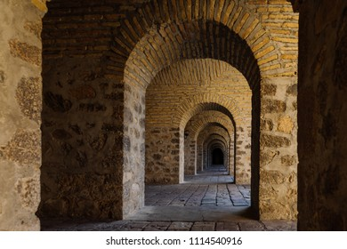 stone ancient building and arches, European architecture
