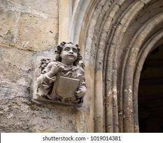 Stone angel figure