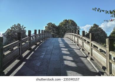A stone arch bridge