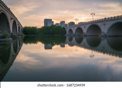 Stone arch bridge in Huishan ancient town, Wuxi City, Jiangsu Province, China