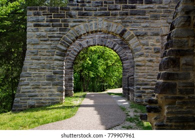Stone arch on ruins