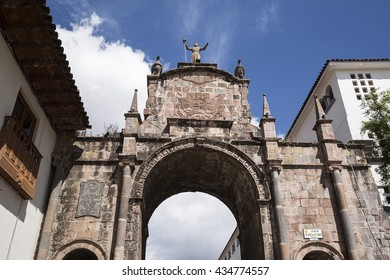 "Stone arch ""Santa Clara"" at Cuzco city Peru."
