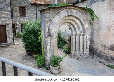Old Style Stone Wall England Arch Stock Photo (Edit Now