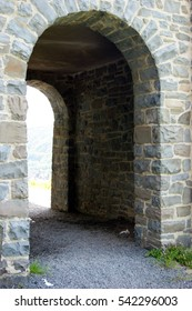 A stone archway at the castle of Altena, Germany