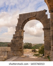 Stone archway of the Water Temple and view
